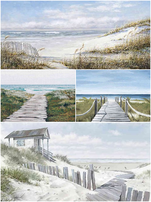 Beach Canvas Wall Art Scenic Paintings Prints