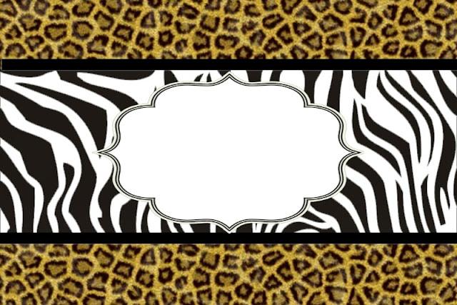 Para hacer Invitaciones, Marcos de Fotos o Tarjetas para Imprimir Gratis de Leopardo y Cebra.