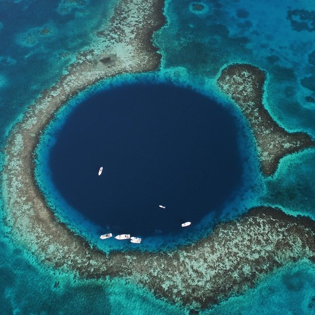 17 Real Places That Are Probably Portals To The Wizarding World - The Great Blue Hole, Belize