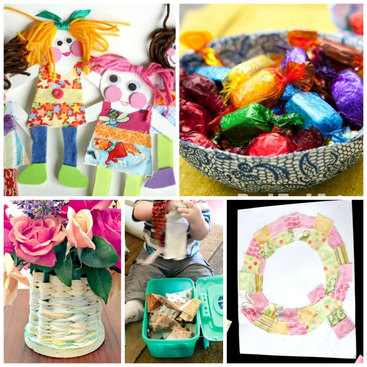 Fabric scrap crafts and activities for kids what can we for Fabric arts and crafts ideas