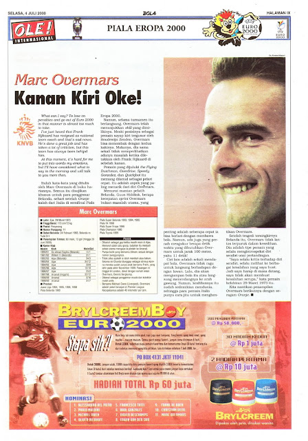 MARC OVERMARS NETHERLAND HOLLAND EURO 2000