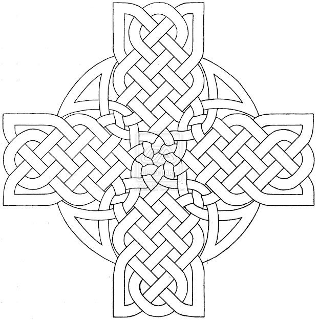 Celtic Mandala Coloring Pages  Celtic Cross Design  By Baalthezzar