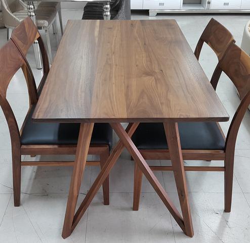 meja makan jati murah - Contoh model meja makan kayu jati