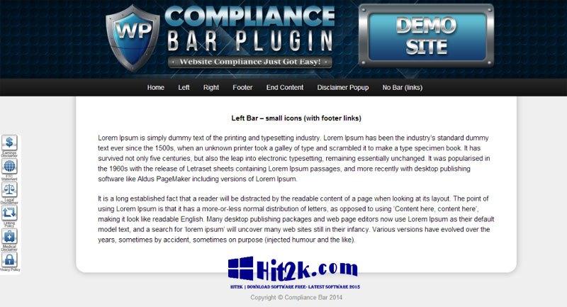 Compliance Bar Plug-in 1.0.12 WordPress Plugin