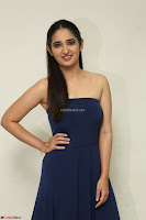 Radhika Mehrotra in sleevless Strap less Blue Gown At Prema Entha Madhuram Priyuraalu Antha Katinam Movie Interview ~  Exclusive 096.JPG