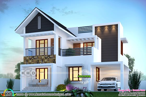 1830 sq-ft 4 bedroom beautiful modern house