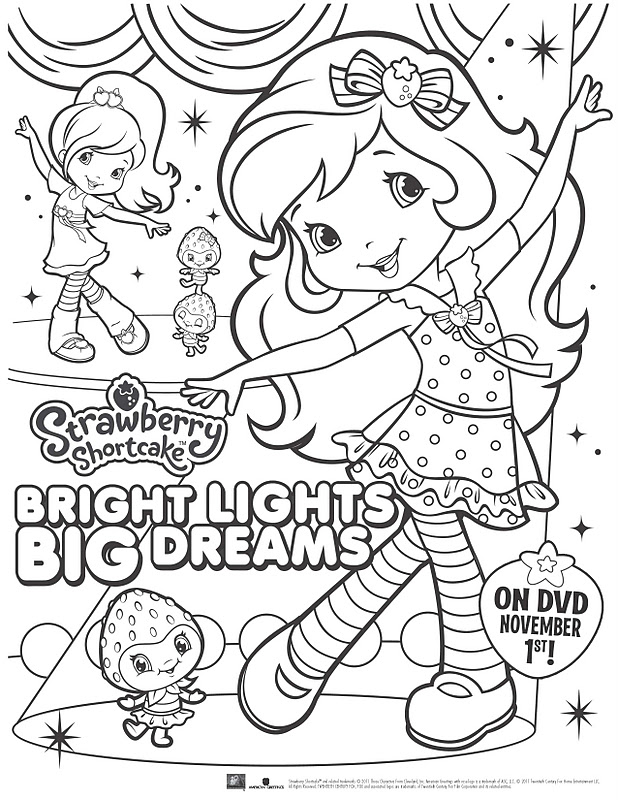 Printable Strawberry Shortcake Coloring Pages – 15 | 800x618