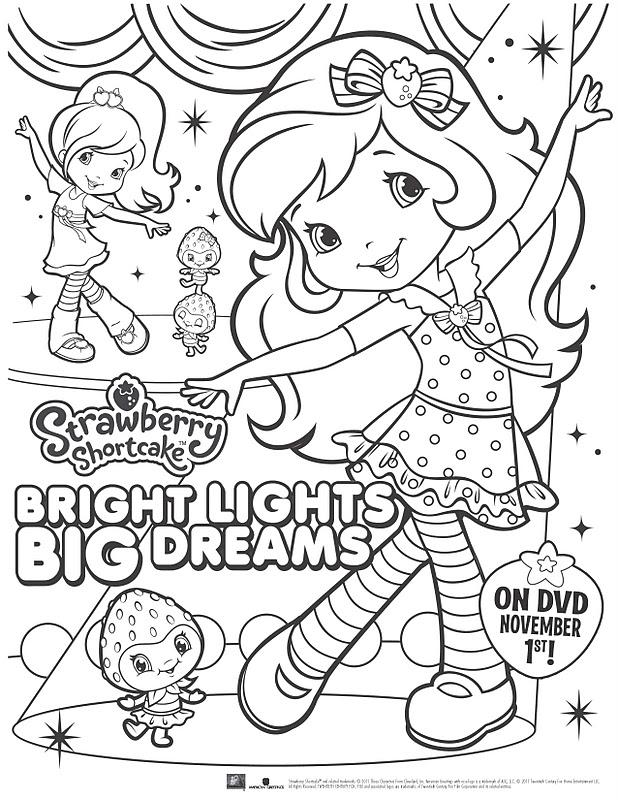 strawberry shortcake coloring page | Malvorlage prinzessin ... | 800x618