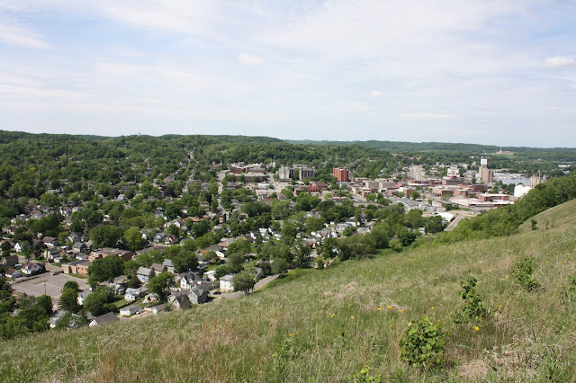 Red Wing from atop Barn Bluff in Minnesota