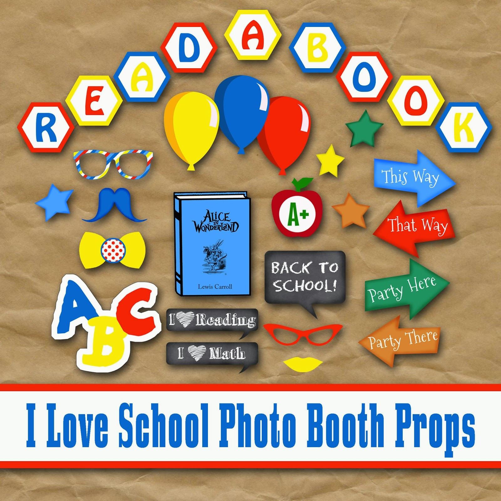 Old Market Corner Back To School Photo Booth Prop Set With Free Dr Seuss Photo Booth Props