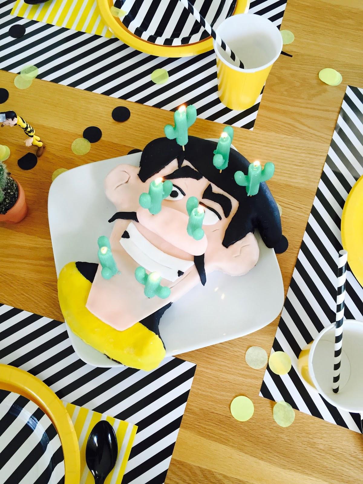 Gâteau d'anniversaire thème Dalton