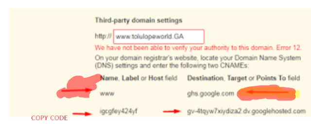 HOW TO LINK MY DOMAINKING DOMAIN TO MY BLOGGER BLOG