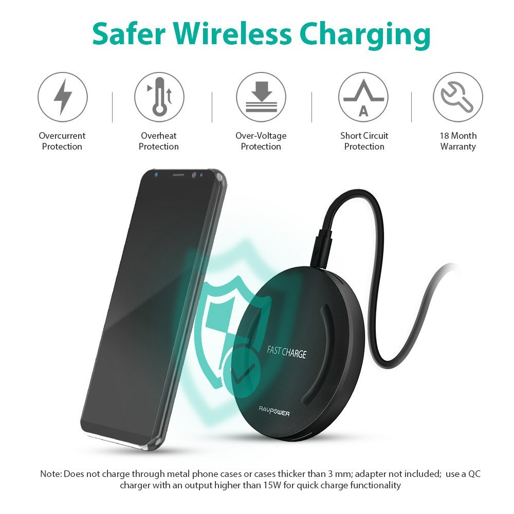 best buy wireless charger for iphone 8 and 8 plus qi. Black Bedroom Furniture Sets. Home Design Ideas