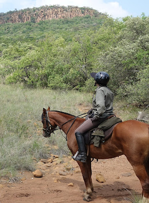 Author Sophie Neville on horseback