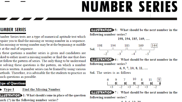Number Series Tricks Disha Publications PDF Download – SBI Clerk Exams