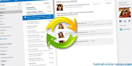 animaciones y otras funciones  en hotmail iniciar sesion