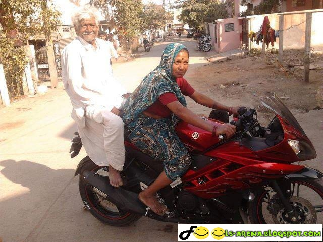 funny old motorcycle pictures  Funny Old Lady Riding Bike - Funny Pictures