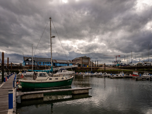 Photo of storm clouds over Maryport Marina yesterday (Thursday)
