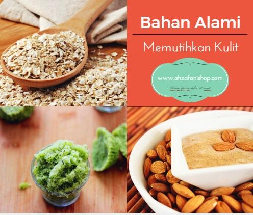 Bahan Alami Oatmeal, Masker almond, dan Green tea scrub untuk Memutihkan Kulit Wajah