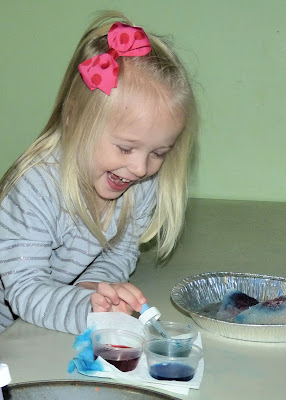 Painting on Ice, from Paula's Preschool and Kindergarten