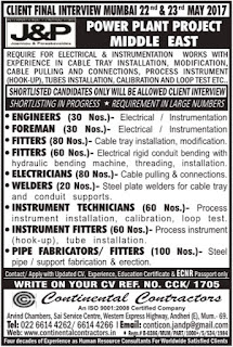 J&P Power Plant project jobs in Middle East