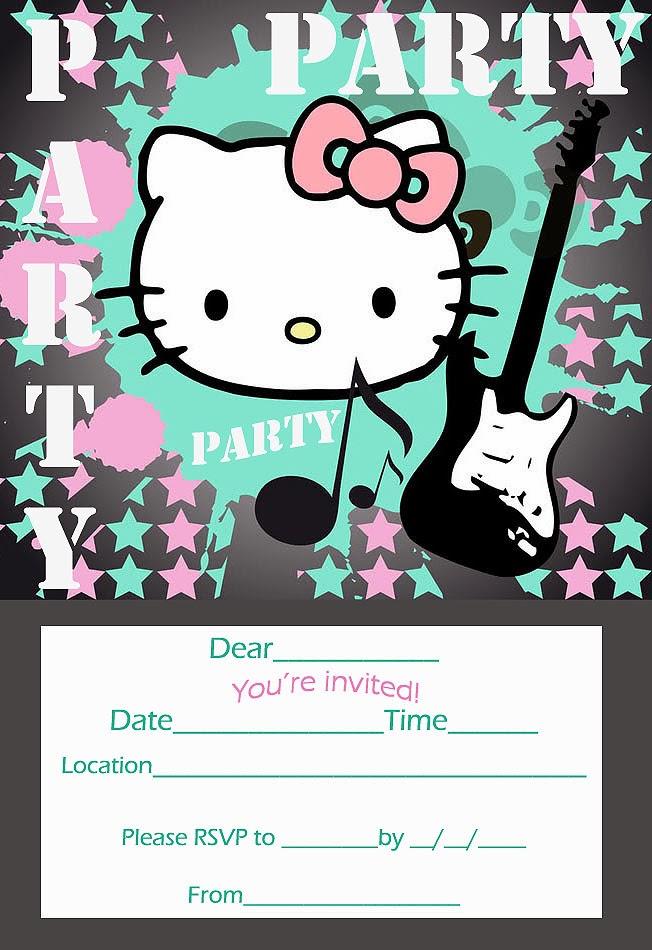 Pretty Practical Mom: Free Printable Hello Kitty Invitations