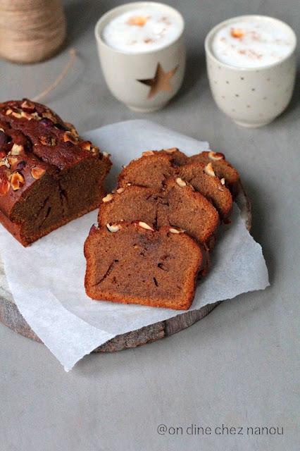 praliné , amandes , noisettes , gouter , cake facile