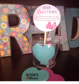 A Book Buffet Theme Day to celebrate the LOVE of reading!  Spread the love with these book love notes.