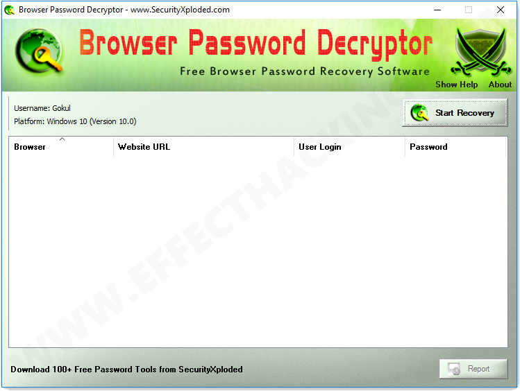 Browser Password Decryptor Screenshot 1