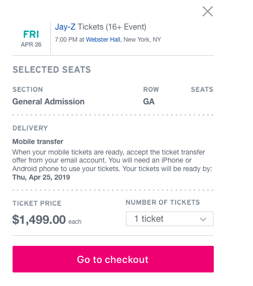 photograph regarding Stubhub Printable Tickets named EV Grieve: Did yourself receive your tickets for the Jay-Z demonstrate