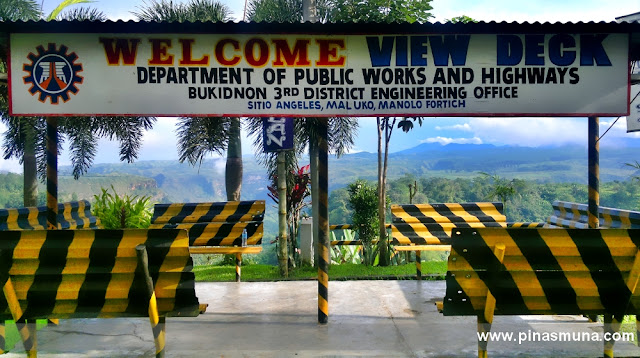 canyon view deck in Maluko, Manolo Fortich, Bukidnon, Philippines
