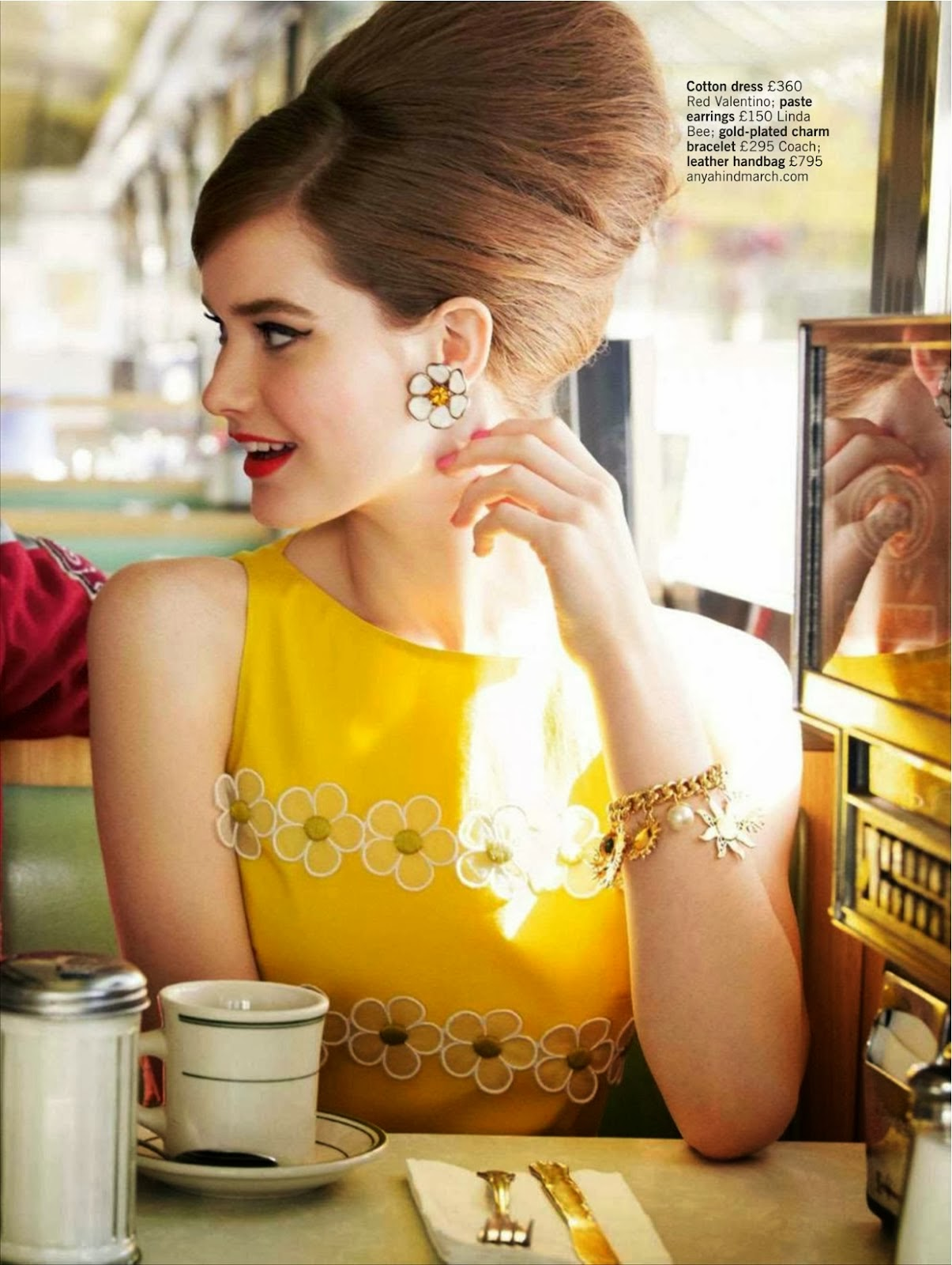 Chic 50s style fashion editorial with Teddy Boys in Glamour UK magazine