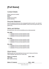 cv templates free download nz - Resume cv templates free