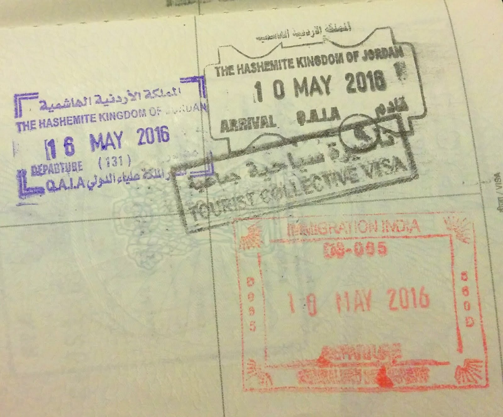 Jordan Tourist Collective Visa for Indians