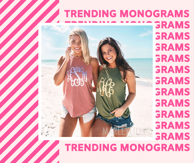 monogrammed high neck tank top