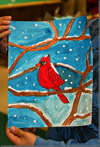 http://elementaryartfun.blogspot.com/search/label/winter%20cardinals