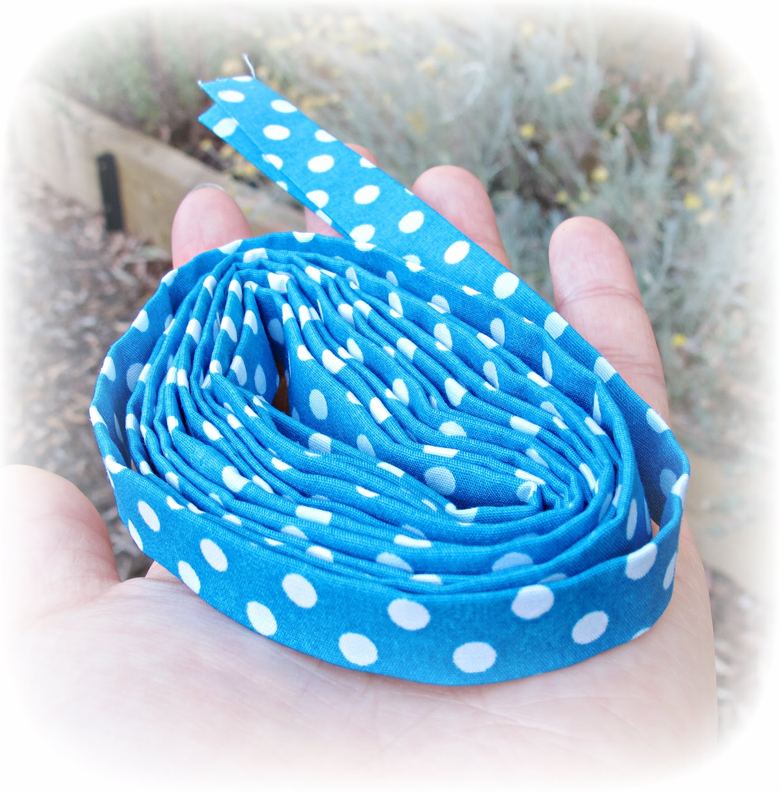 image bias tape polka dot blue white make your own