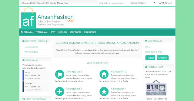 website ahsanfashion.com