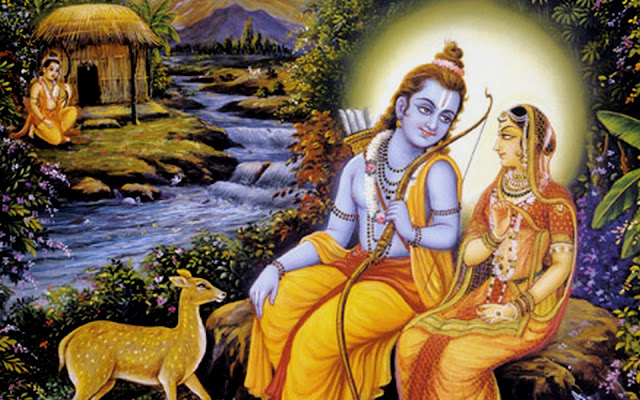 Beautiful  Lord Ram & Sita  Wallpaper For Your Computer