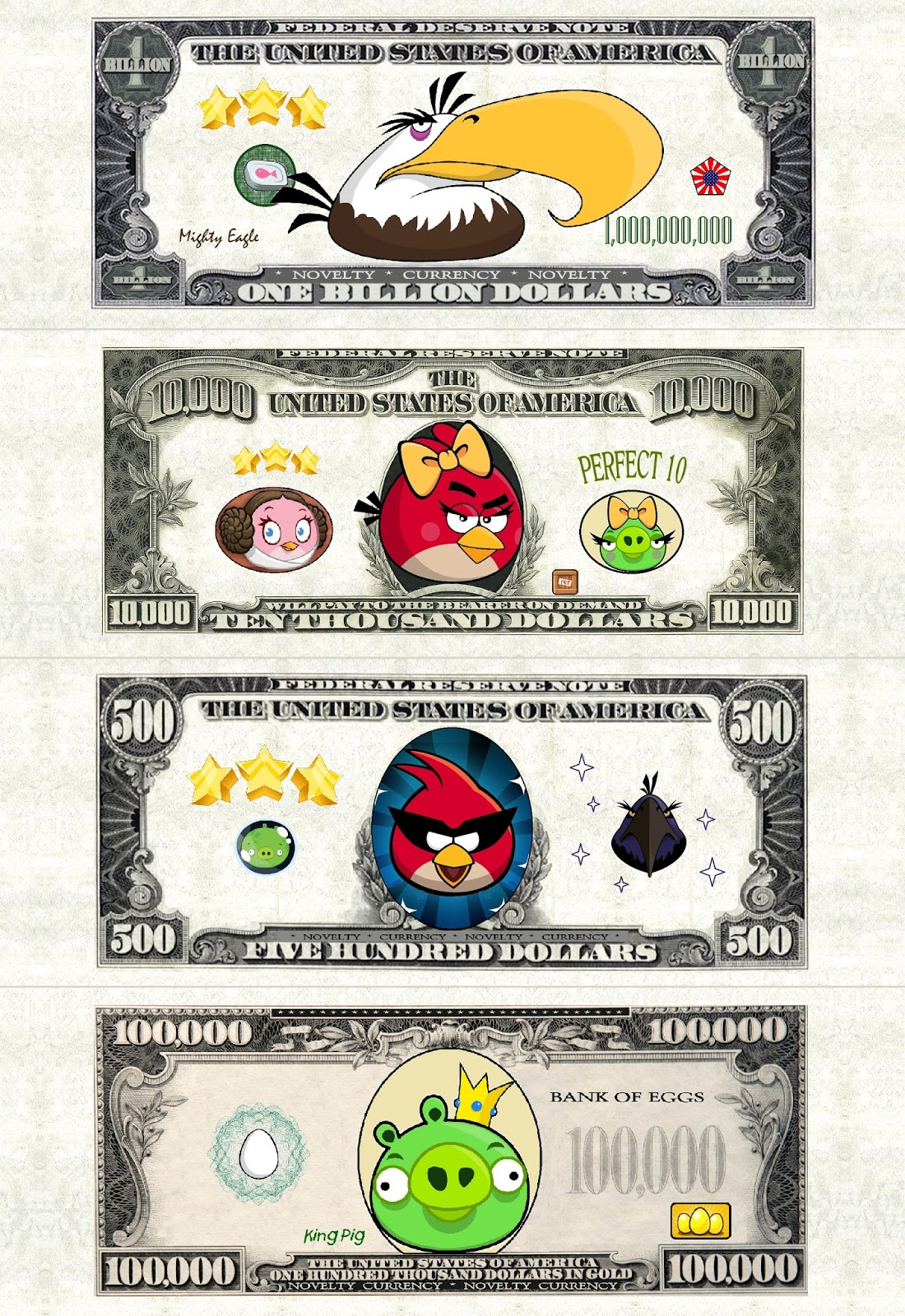 Mobile Home Mommy FREE ANGRY BIRDS PLAY MONEY PRINTABLE PARTY FAVOR