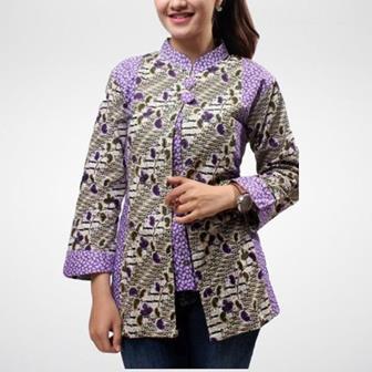 Model Baju Batik Seragam Guru Wanita Terbaru