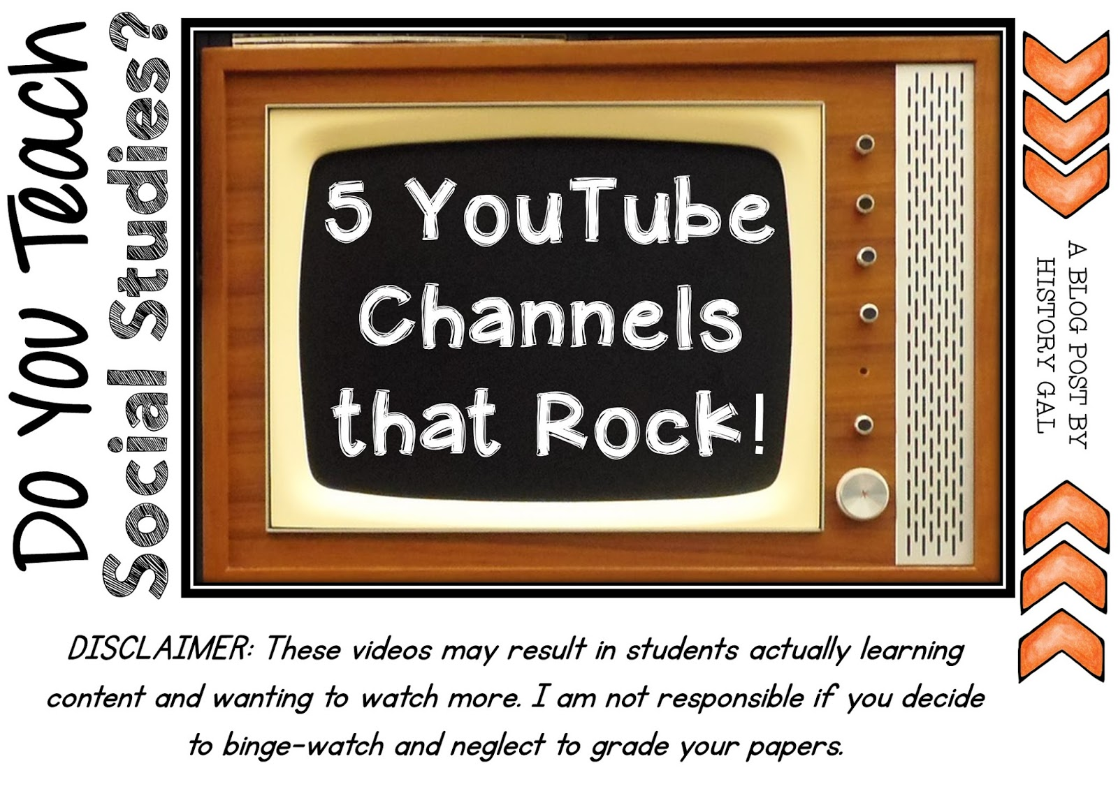 5 Awesome YouTube Channels for Social Studies Teachers by History Gal