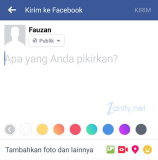 Cara Membuat Status FB dengan Latar Belakang Berwarna di Android
