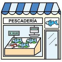 Resultado de imagen de pescaderia dibujo