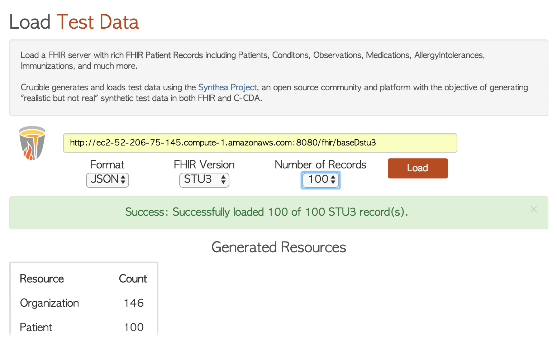 Data  Analytics  Code  @Africa: HAPI FHIR Example Server