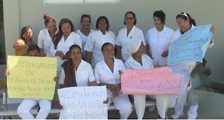 Enfermera del Hospital de Manzanillo Paralizan una vez más sus labores en demanda de una serie de reivindicaciones.