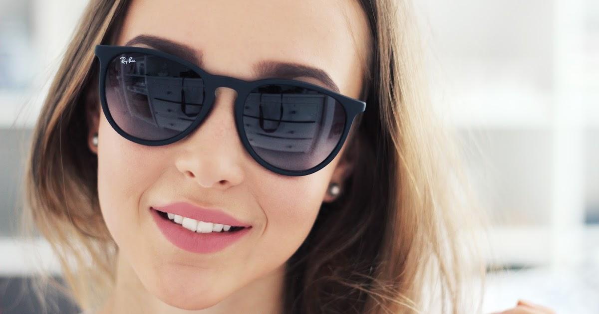 Ray Ban Erika Blue Lens Size Medium Rs1800 Sunglasses At