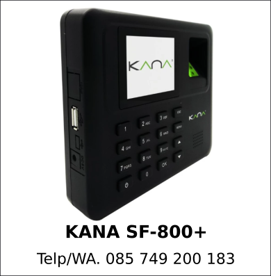 Jual Mesin Fingerprint KANA SF-800+
