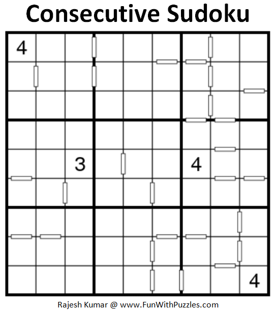 Consecutive Sudoku (Puzzle for Adults)