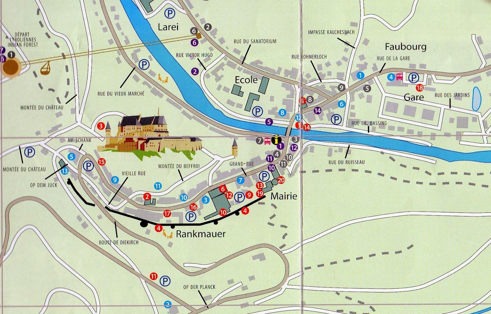Mapa de Vianden